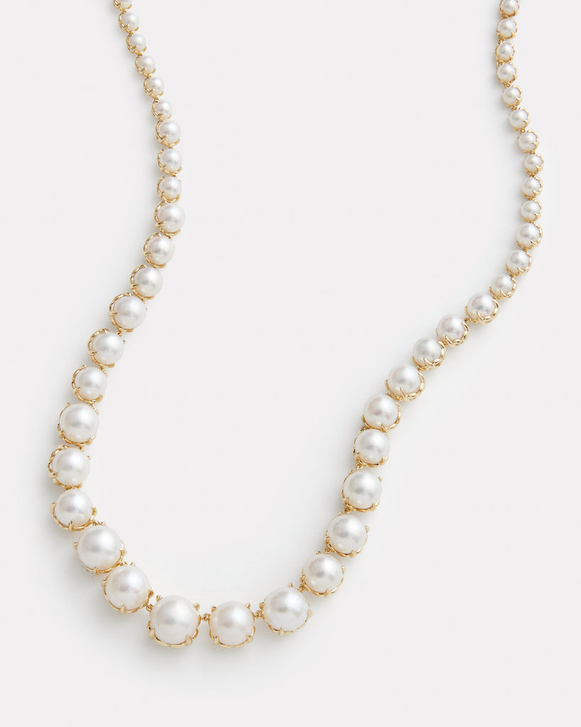 Graduated Signature Set Pearl Necklace