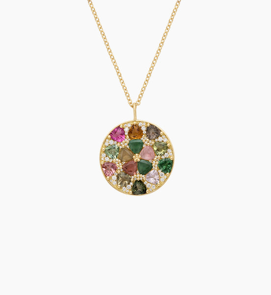 Mosaic Disc Necklace