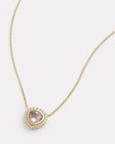 Diamond Edge Morganite Necklace