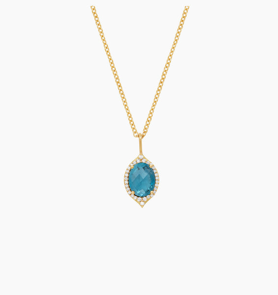 Oval Aladdin Pavé Necklace