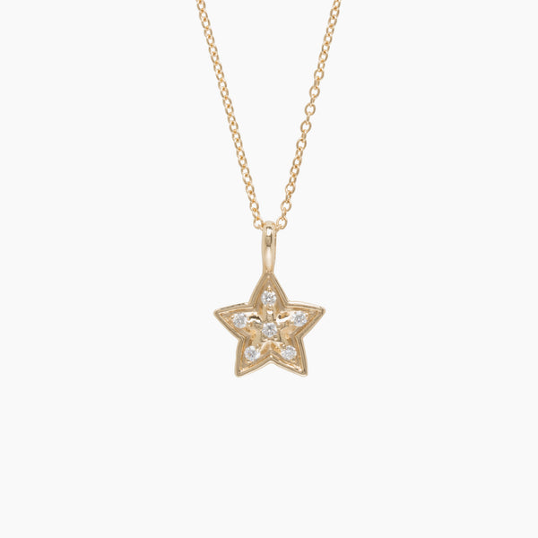Little Wolf Star Necklace