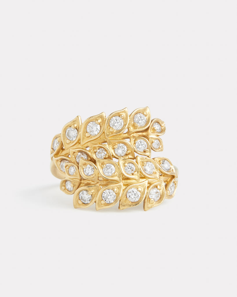 Wrapped Vine Ring with Diamonds