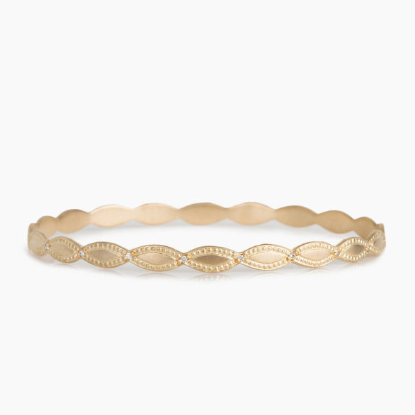Marquis Leaf Bangle