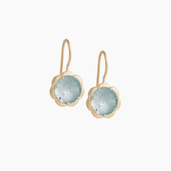 Petite Scallop Drop Earring