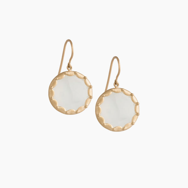 Scallop Overlay Earring