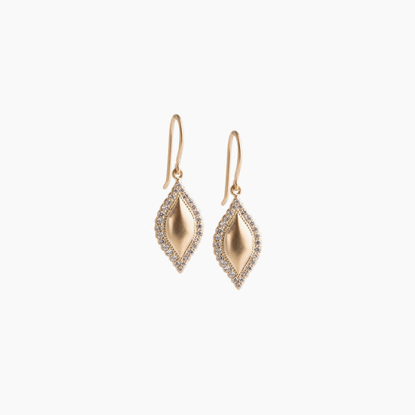 Pave Edge Marquis Earring