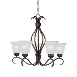*NEW* Maxim Ice Glass Nickel Finish 5 Light Chandelier - Macomb County ReStores