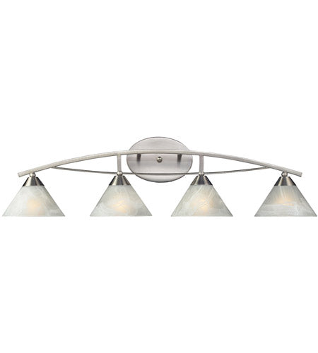 *NEW* Elk Elysburg 4 Light Satin Nickel Vanity Light - Macomb County ReStores