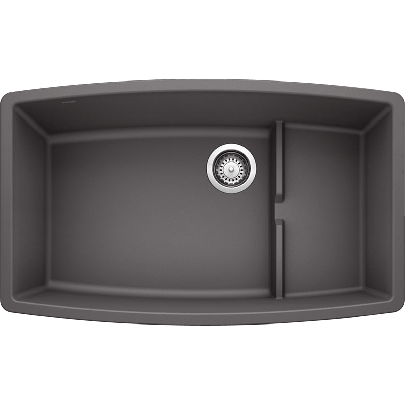 "*NEW*  Blanco Performa 32"" Granite Double-Basin Undermount Kitchen Sink in Cinder - Macomb County ReStores"