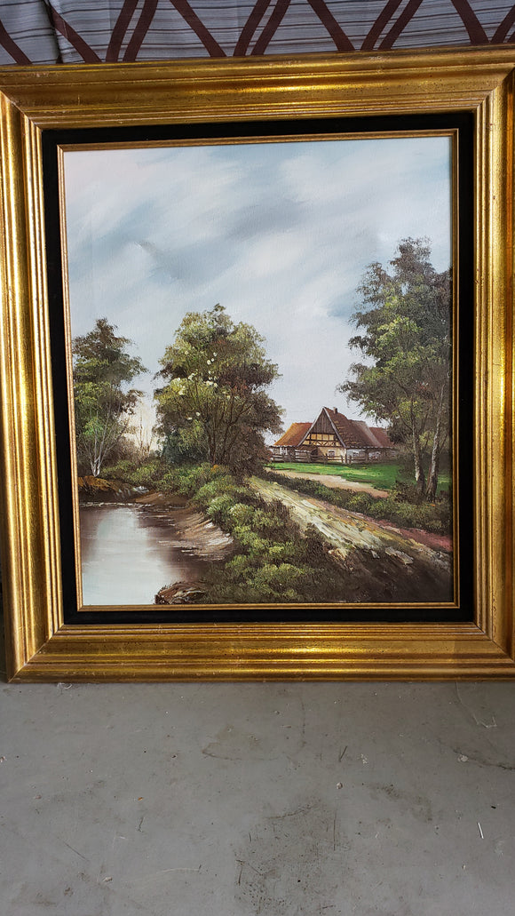 Original Countryside Oil Painting - Macomb County ReStores
