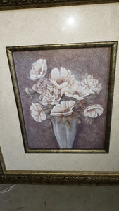 Flower Print in Great Frame and Matt - Macomb County ReStores