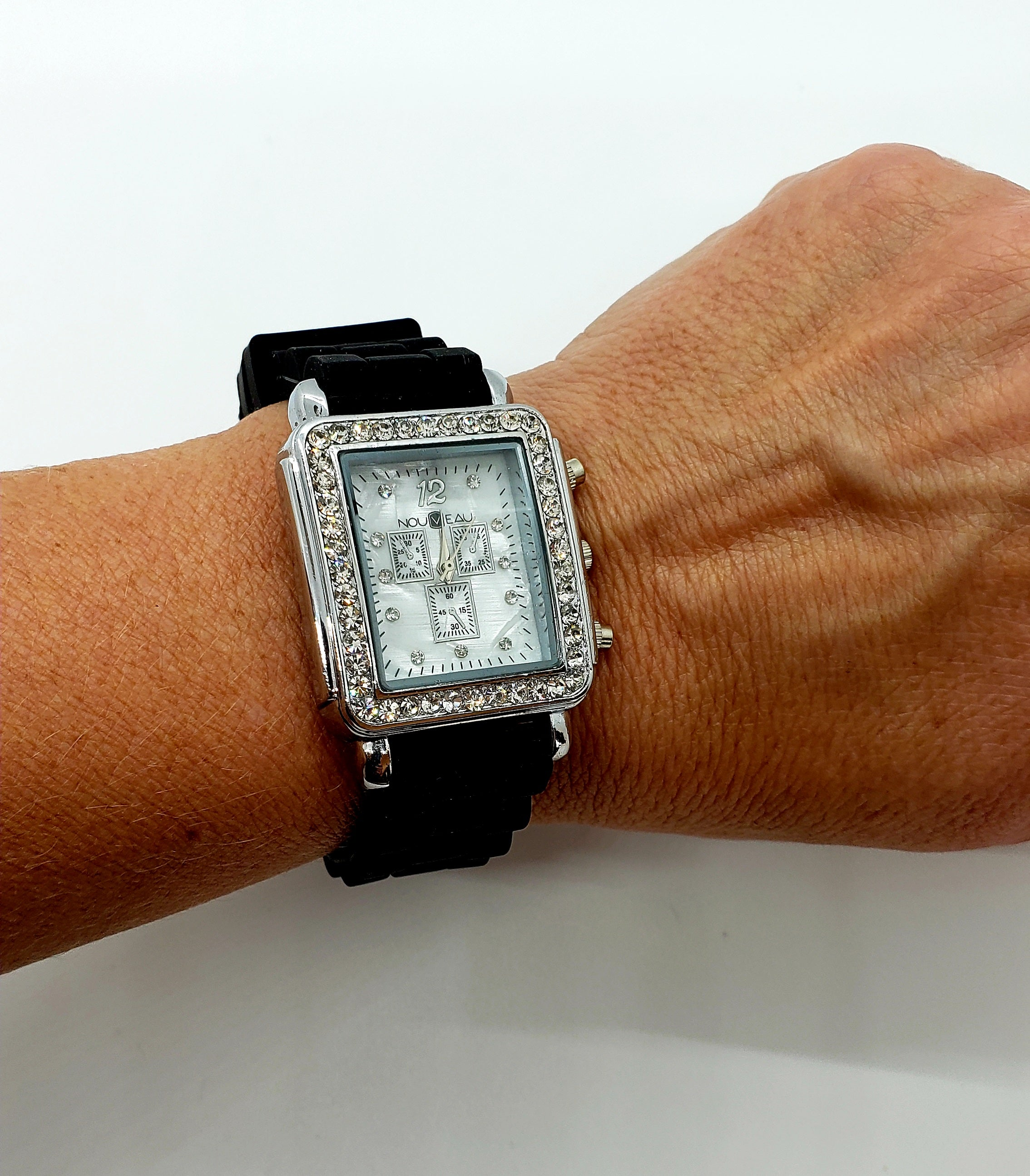*NEW* Nouveau Watch Black Silicone Band & Stainless Steel Case - Macomb County ReStores