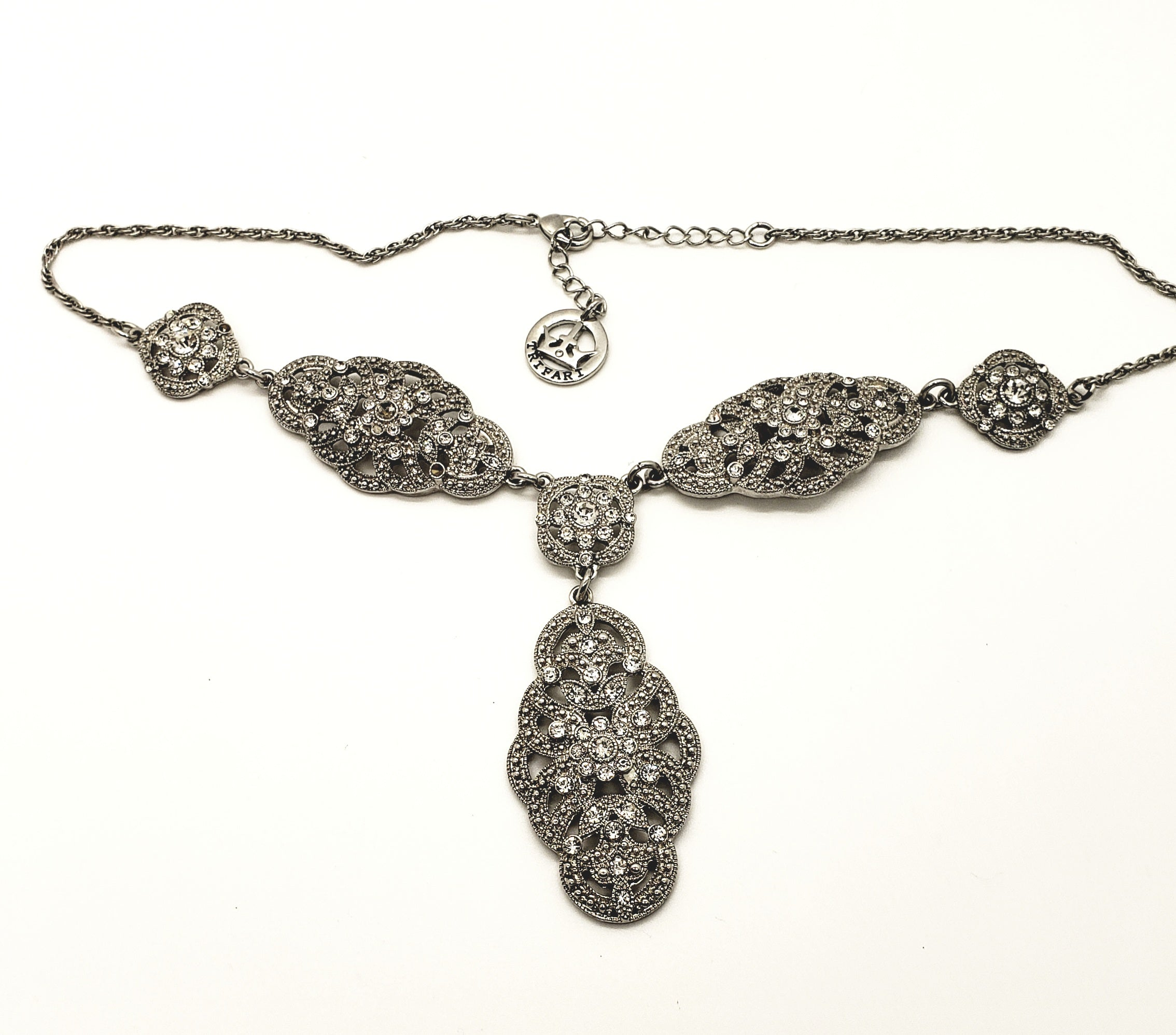 Crown Trifari Rhinestone Necklace - Macomb County ReStores
