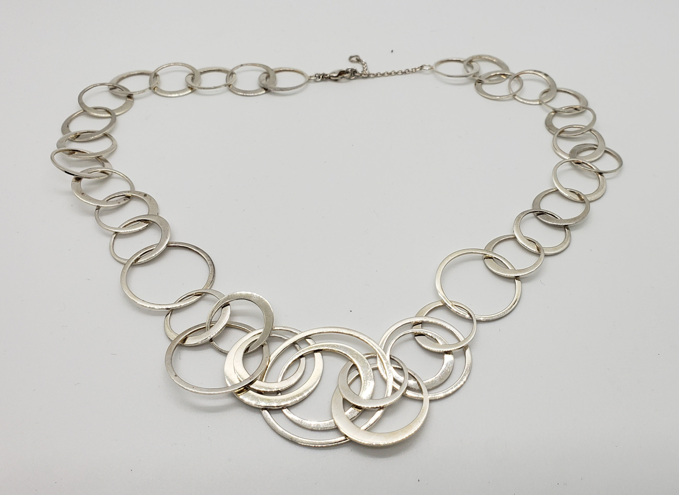 Adjustable Silvertone Link Necklace - Macomb County ReStores