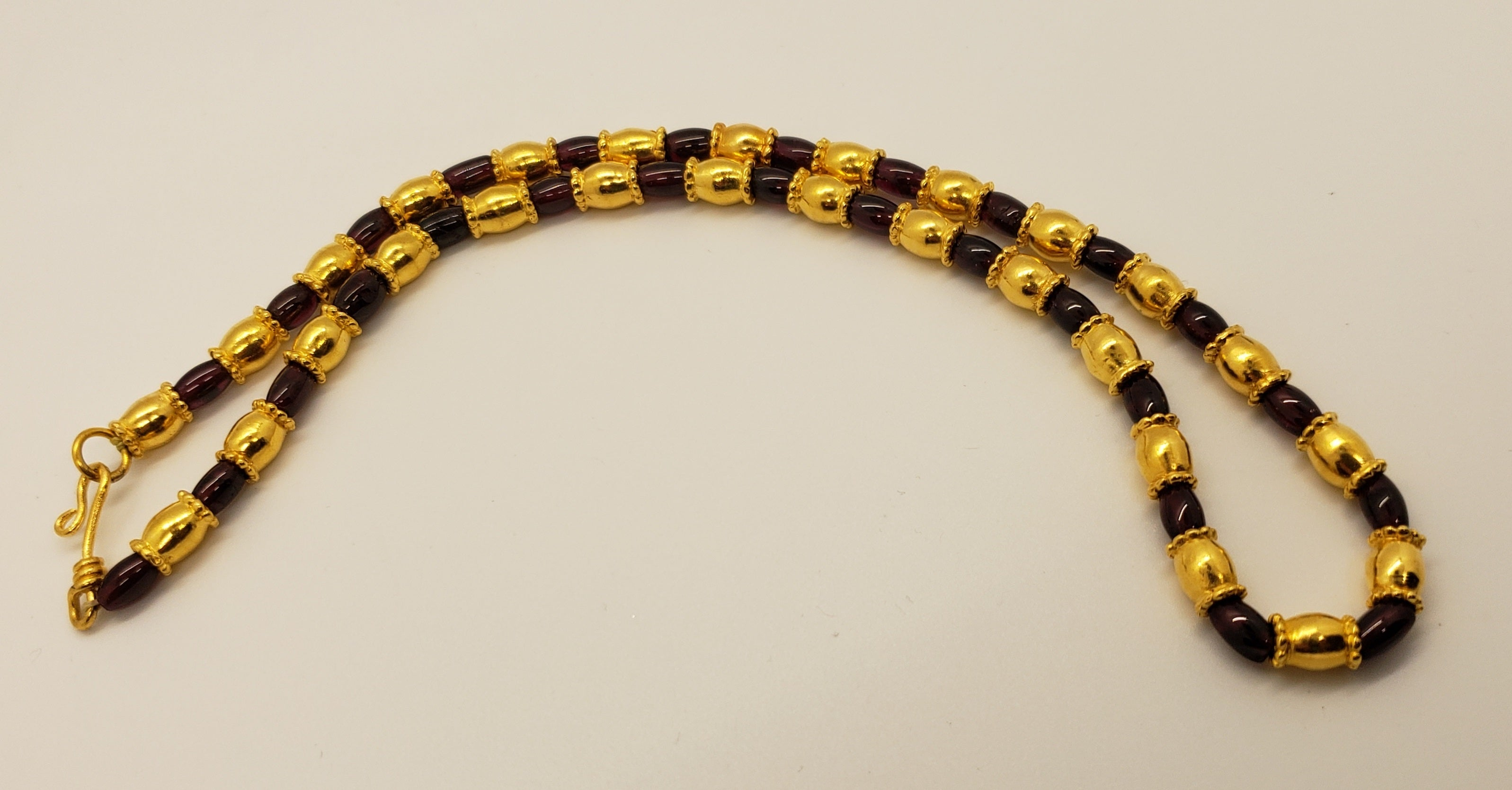 Metropolitan Museum of Art WAG Beaded Gold Egyptian Necklace