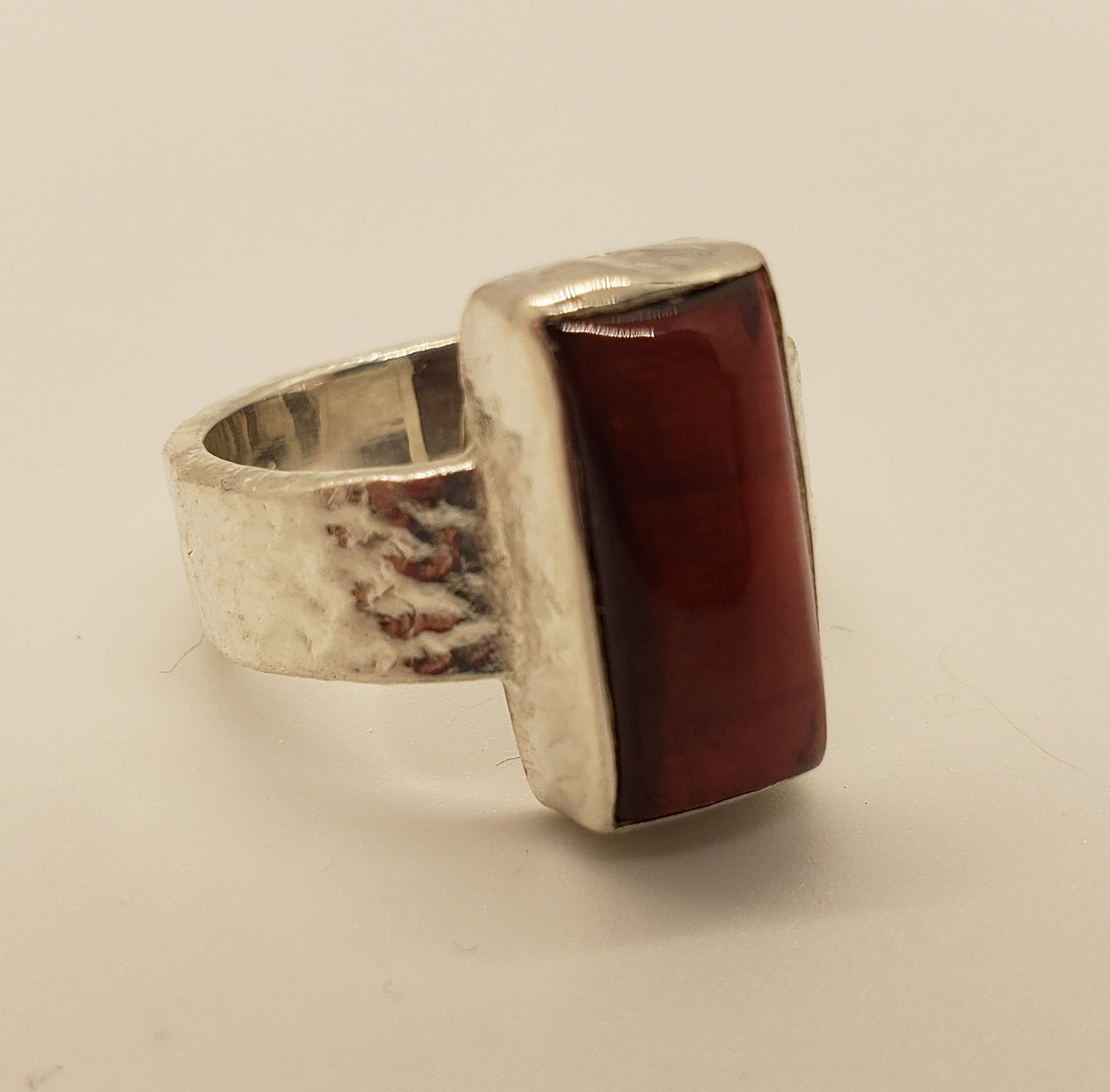 Sundance Sterling and Garnet Ring Size 6