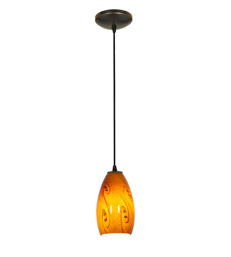 *NEW* Access Sydney Oil Rubbed Bronze Pendant Light in Amber Sky - Macomb County ReStores