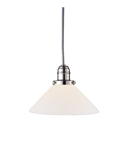*NEW* Hudson Valley Vintage Polished Nickel Pendant Light with Opal Glass (2 Available) - Macomb County ReStores