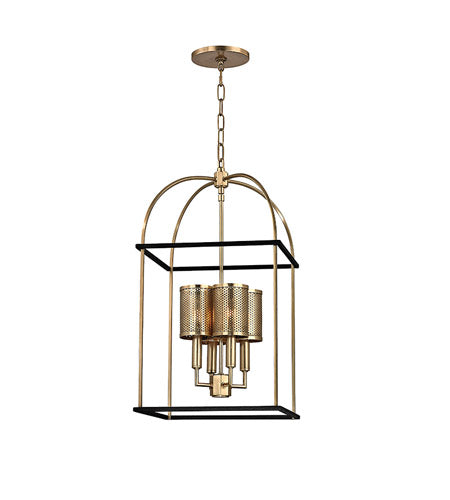 *NEW* Hudson Valley Vestal 4 Light Aged Brass Pendant Ceiling Light - Macomb County ReStores
