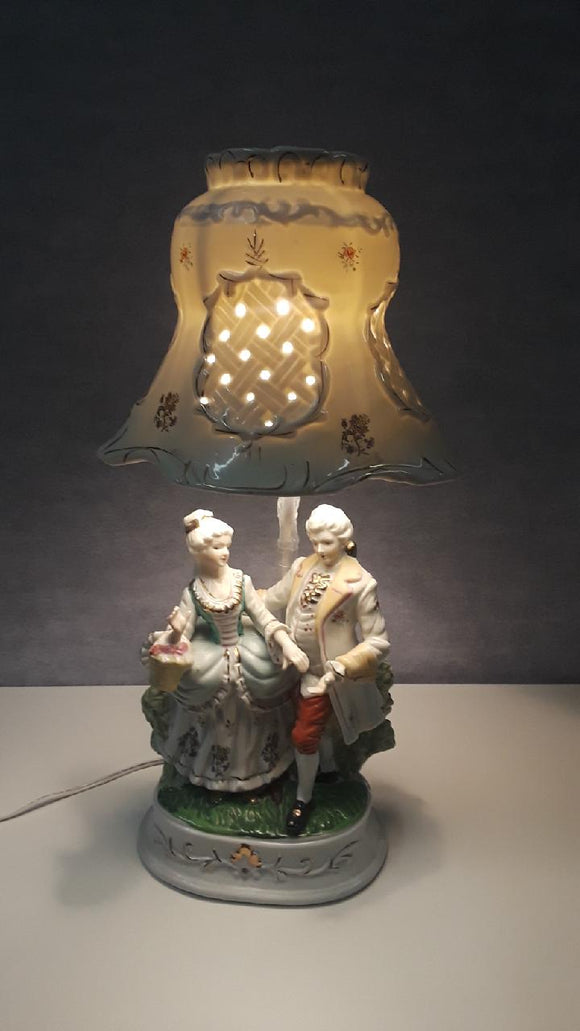 Victorian Porcelain Lamp with Porcelain Shade - Macomb County ReStores