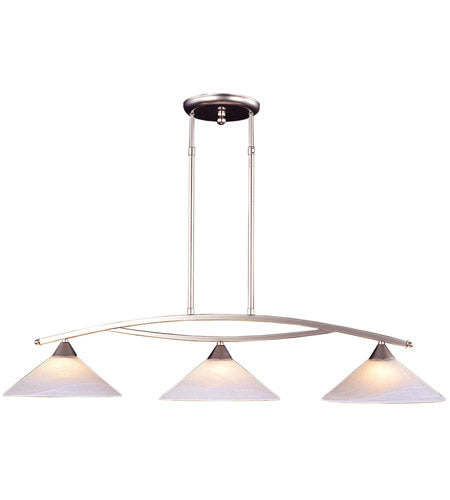 *NEW* Elk - Elysburg 3 Light Satin Nickel Island Light - Macomb County ReStores