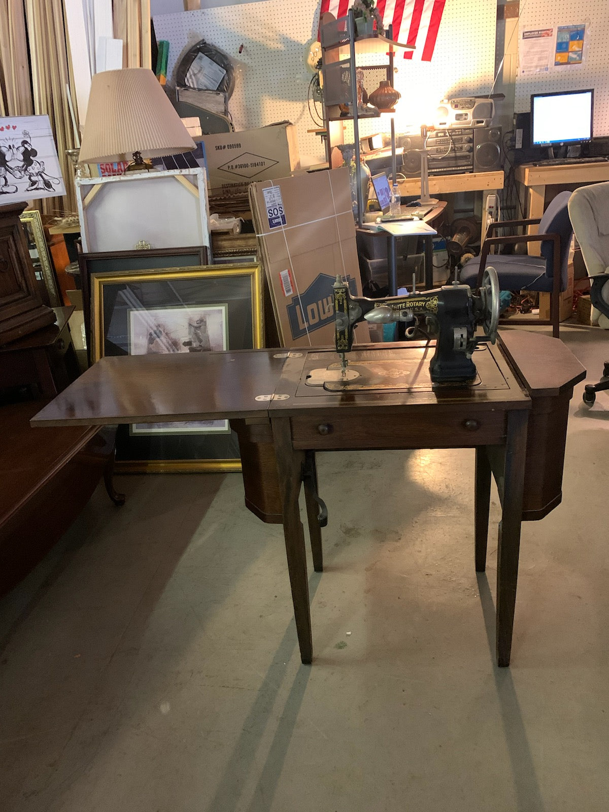 White Rotary Sewing Maching *Made in the USA* - Macomb County ReStores
