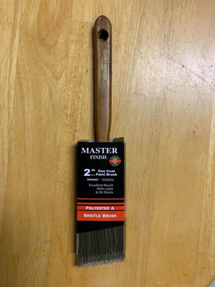 "*NEW* 2"" Angled Sash Brush by Master Finish (20 Available) - Macomb County ReStores"