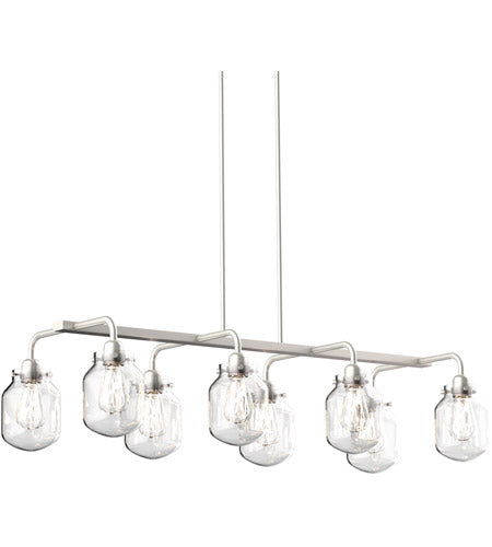 *NEW* DVI Lexington 8 Light Satin Nickel Pendant Ceiling Light in Satin Nickel - Macomb County ReStores