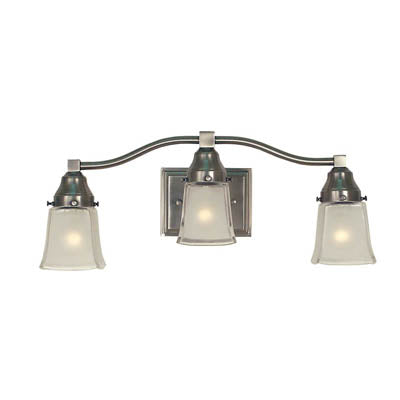 *NEW* H.A. Framburg Taylor 3 Light Vanity Bar in Brushed Nickel with Frosted Glass Shades - Macomb County ReStores