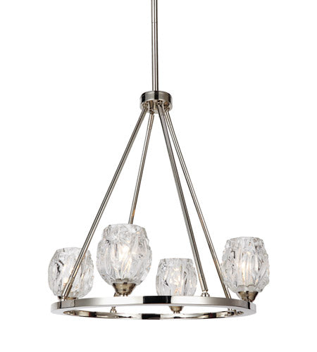 *NEW* Feiss Rubin 4 Light Polished Nickel Chandelier - Macomb County ReStores
