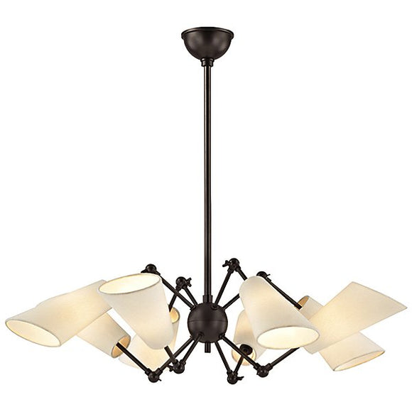 *NEW* Hudson Valley Buckingham Chandelier - 8 Light in Old Bronze (2 Available) - Macomb County ReStores