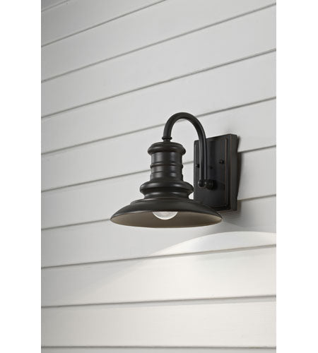 *NEW* Feiss Redding Station Light in Restoration Bronze Outdoor Wall Sconce - Macomb County ReStores