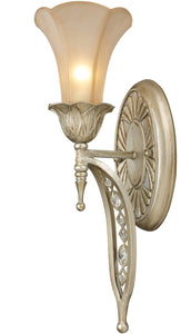 *NEW* Elk Lighting - The Chelsea Wall Sconce in Aged Silver and Beige Frosted Glass (2 Available) - Macomb County ReStores
