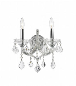 *NEW* Worldwide Lighting Maria Theresa 2 Light Chrome Finish Wall Sconce - Macomb County ReStores