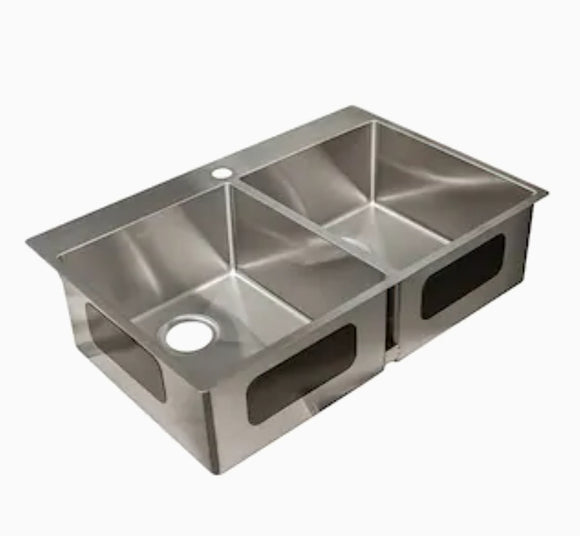 *NEW* Franke Fast In Double Bowl Stainless Steel Sink - Macomb County ReStores