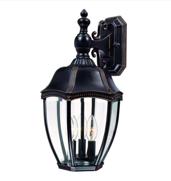 *NEW* Dolan Designs 3-Light Outdoor Wall Sconce in Antique Bronze  (3 Avaialable) - Macomb County ReStores