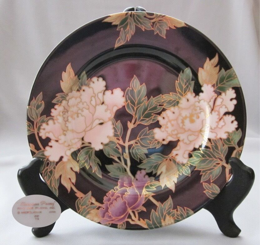 Fitz and Floyd Cloisonne Peony Collectible Plate   *Set of 3* - Macomb County ReStores