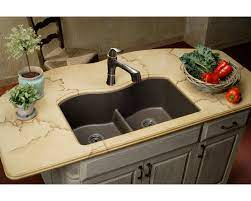*NEW* Elkay Quartz Classic Equal Double Bowl Undermount Sink with Aqua Divide, Mocha