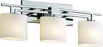 "*NEW* Justice Design Group Fusion 26.5"" Aero 3 Light Bathroom Vanity Light - Macomb County ReStores"