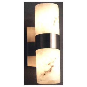 *NEW* Justice Design Lumenaria 2 Light Brushed Nickel Wall Sconce - Wall Cylinder with Flat Rim (2 Available) - Macomb County ReStores