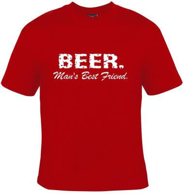 Beer mans best friend gift tee t shirts Cool Funny Humor TShirts Tees, Rude Tees Offensive T-Shirt design