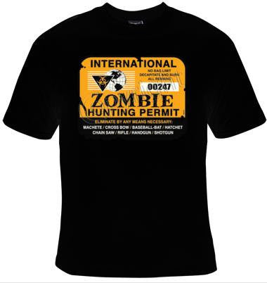 zombie permit gift Cool Funny Humor Shirts  Tee Rude Tees Offensive T-Shirts Offensive t-shirts present gifts