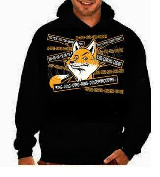 Fox says hoodies Funniest Humorous designs graphic hooded hoody sweater shirt