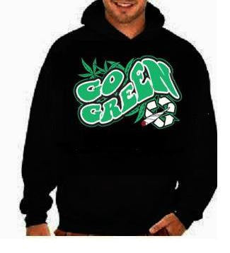 go green  hoodies Funniest Humorous designs graphic hooded hoody sweater shirt