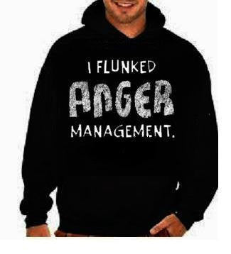 i flunked anger management funny cool hoodies Funniest Humorous designs hoodie graphic hooded hoody sweater shirt