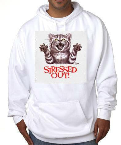 stressed out cat  kitten hoodie sweater shirt hoody t-shirts hoodies