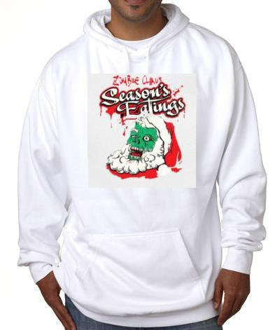 zombie clause christmas xmas gift hoodie sweater shirt hoody t-shirts hoodies