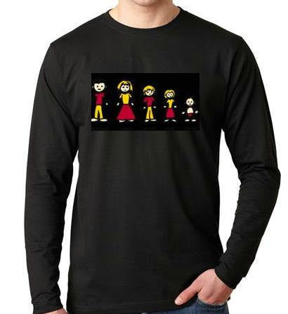 Long sleeve shirt Ass Family Cool Funny Humorous clothes long sleeves Shirt Tees T-Shirt designs