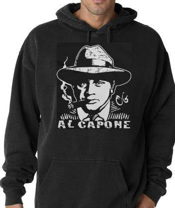 The GodFather al capone screen printed cool hoodies shirt movies  hoody  mafie hoodie god father