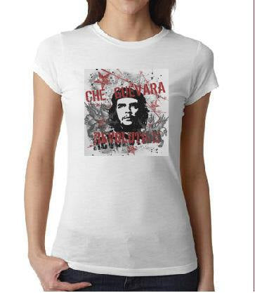 ladies women tops shirt  CHE GUEVARA screen printed cool t shirt t